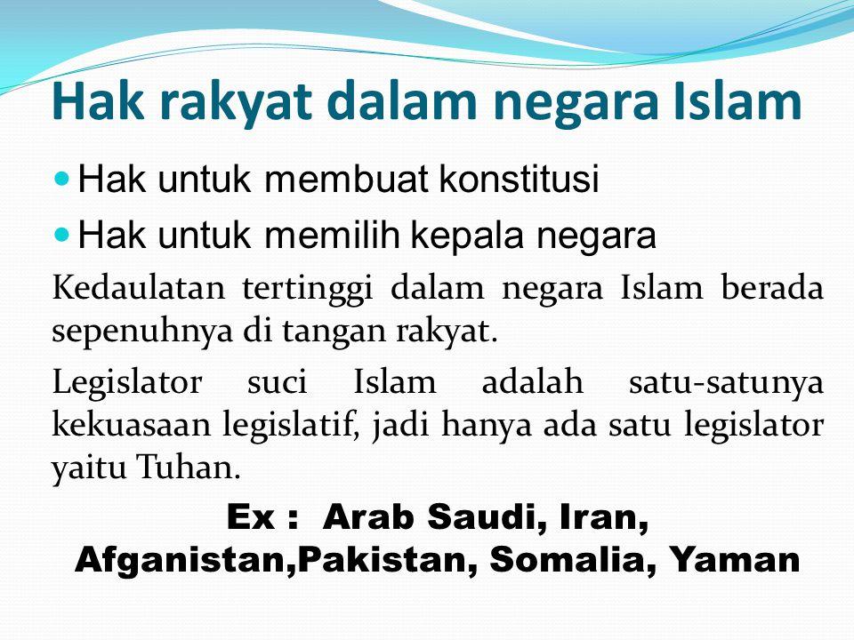 Hak rakyat dalam negara Islam