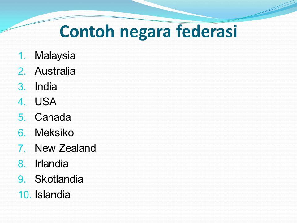Contoh negara federasi