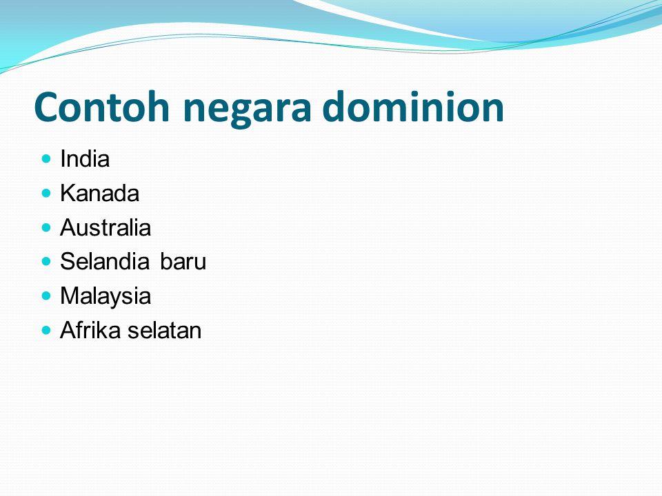 Contoh negara dominion