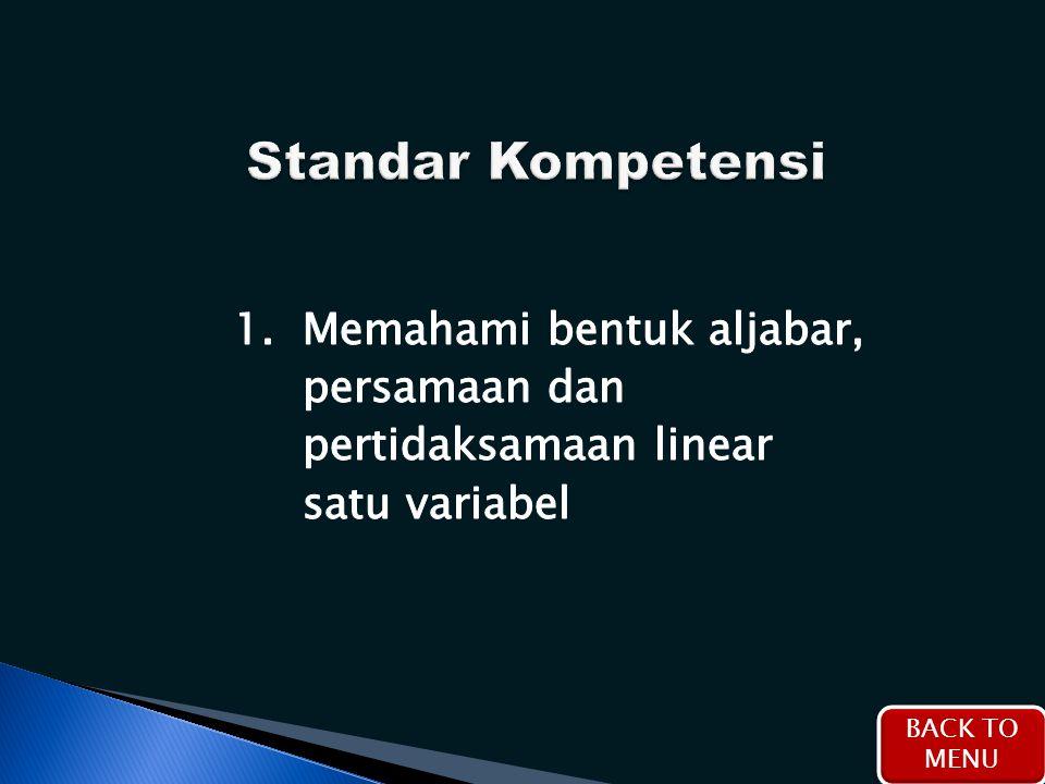 Standar Kompetensi 1.