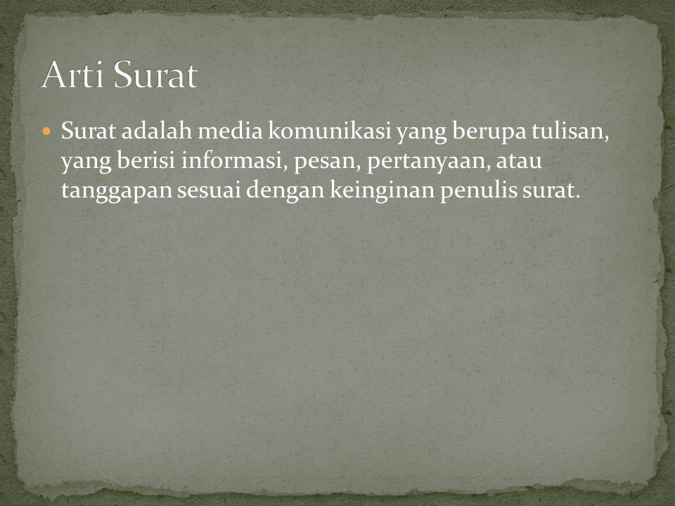 Arti Surat