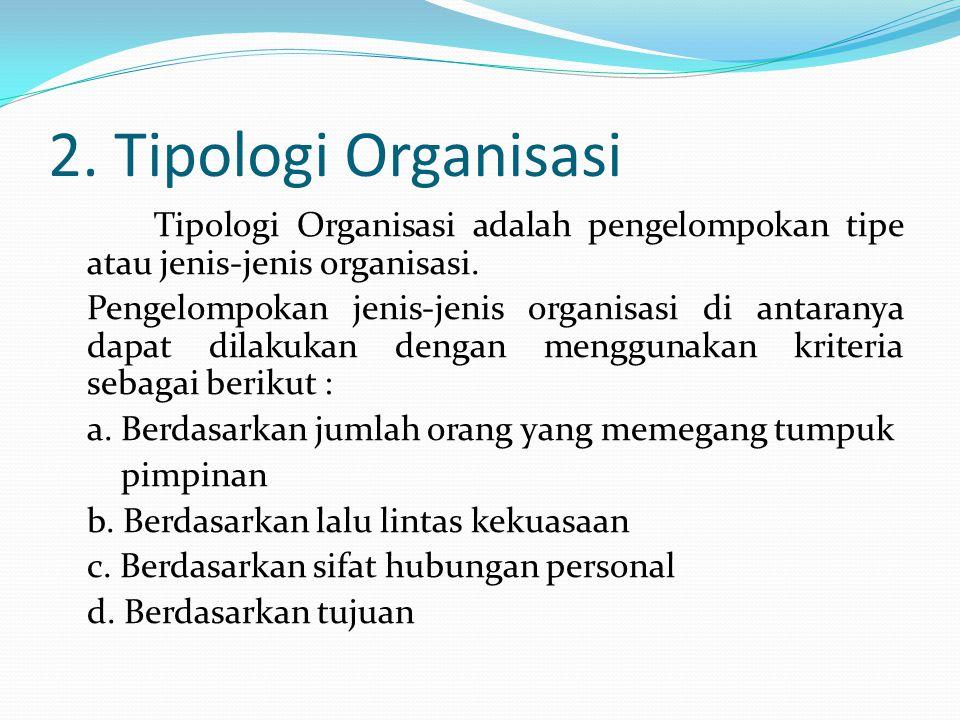 2. Tipologi Organisasi
