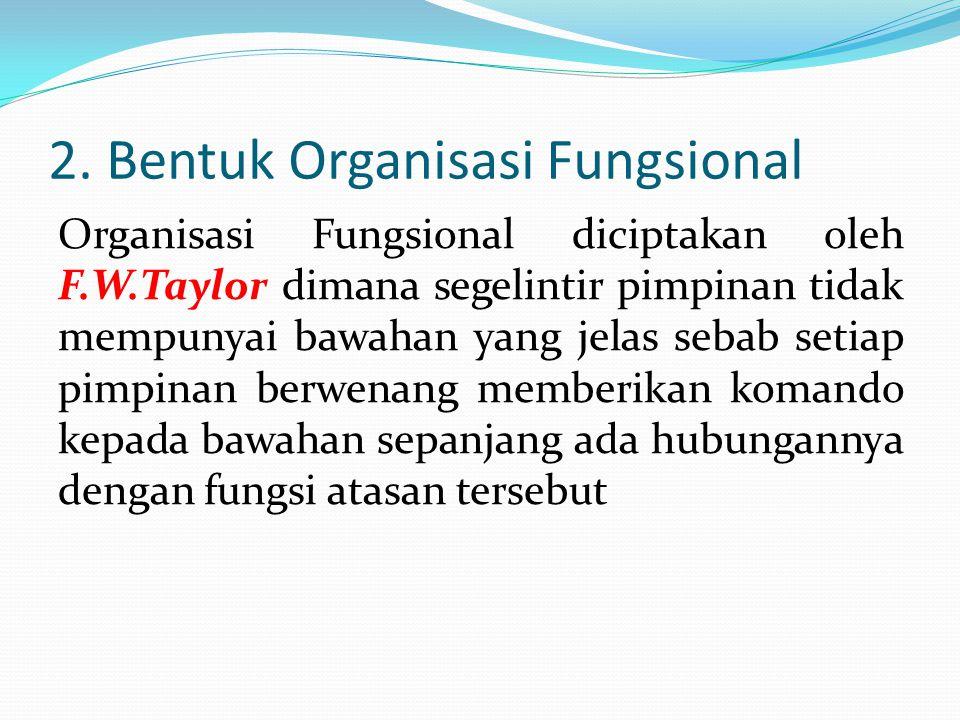 2. Bentuk Organisasi Fungsional