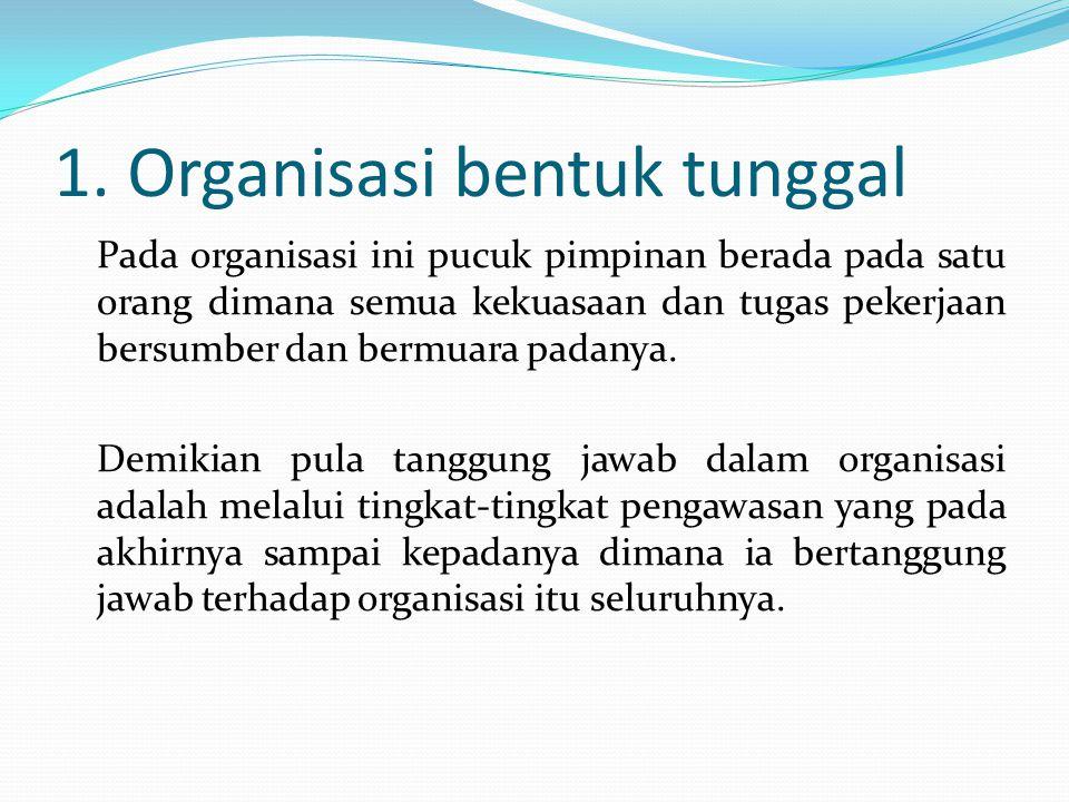 1. Organisasi bentuk tunggal