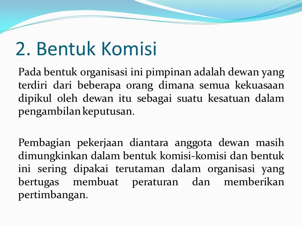 2. Bentuk Komisi