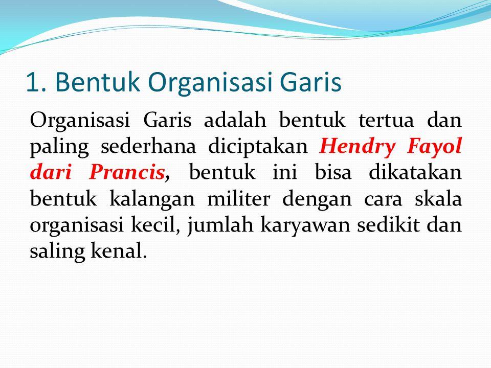 1. Bentuk Organisasi Garis