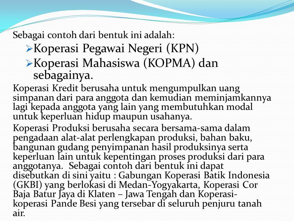 Koperasi Pegawai Negeri (KPN)