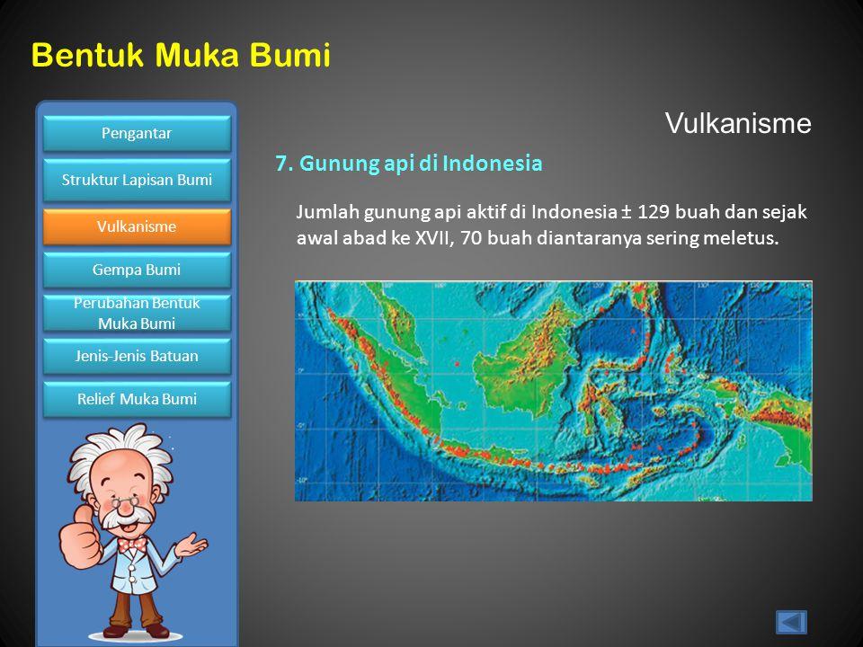 Vulkanisme 7. Gunung api di Indonesia