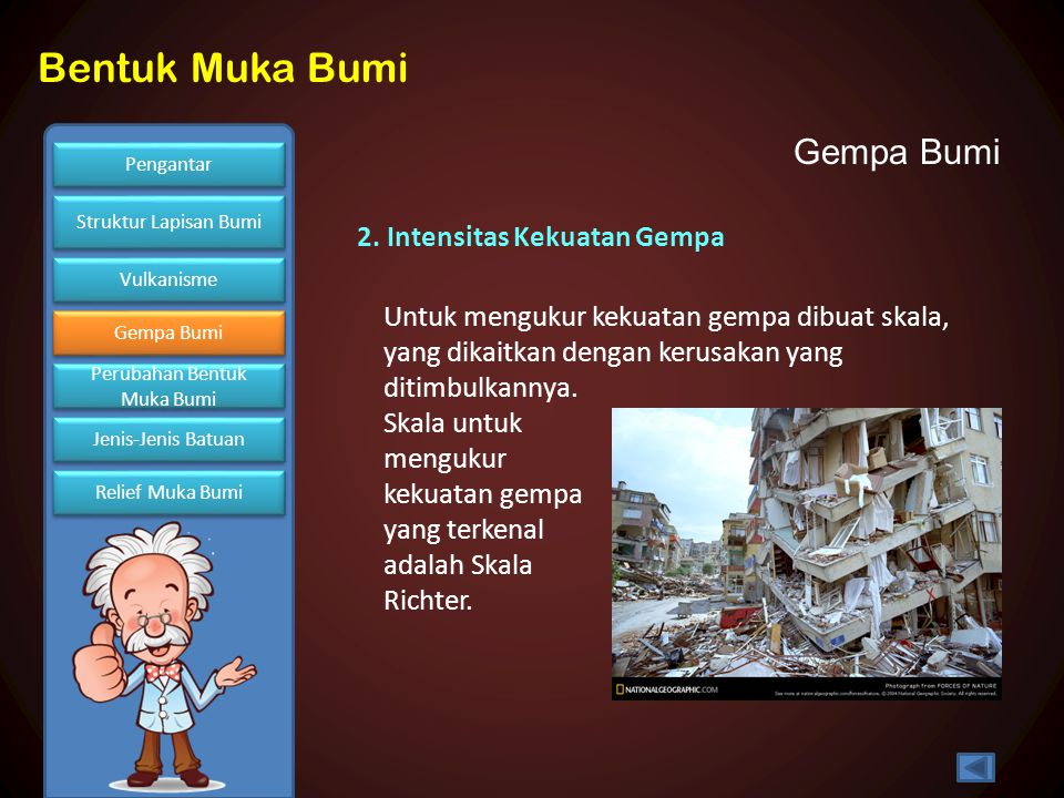 Gempa Bumi 2. Intensitas Kekuatan Gempa