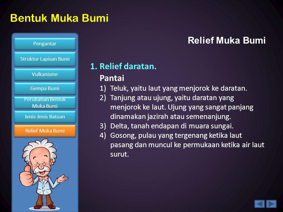 Relief Muka Bumi 1. Relief daratan. Pantai