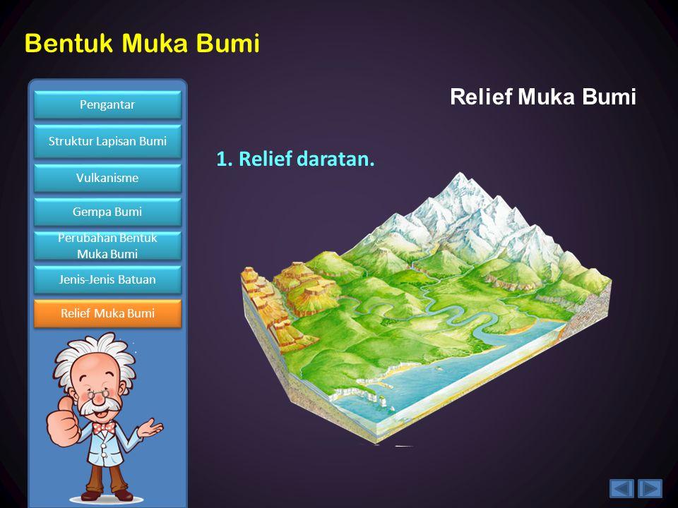 Relief Muka Bumi 1. Relief daratan.