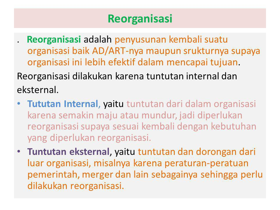 Reorganisasi