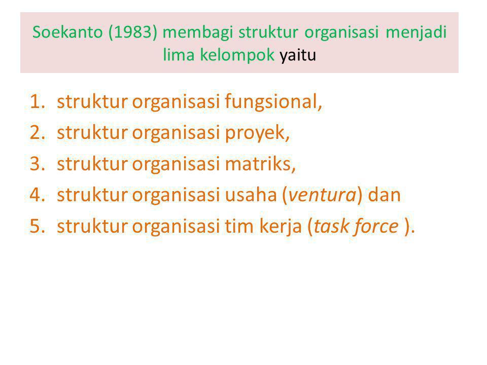 struktur organisasi fungsional, struktur organisasi proyek,