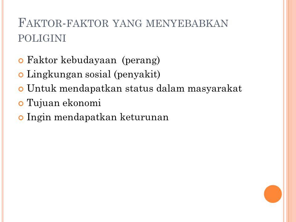 Faktor-faktor yang menyebabkan poligini