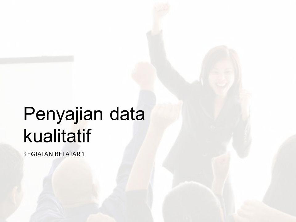Penyajian data kualitatif