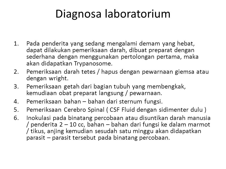 Diagnosa laboratorium