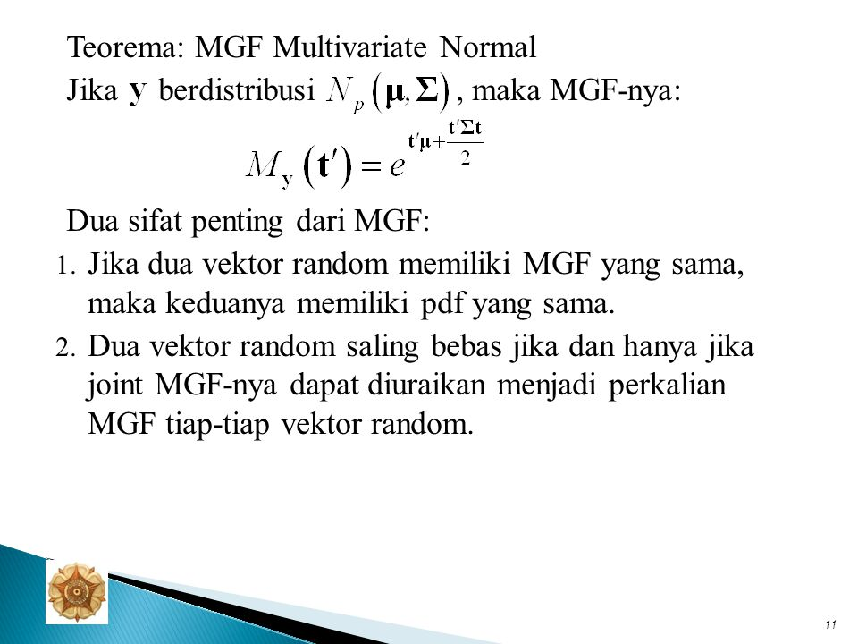 Teorema: MGF Multivariate Normal