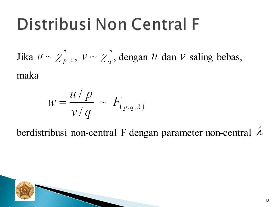 Distribusi Non Central F