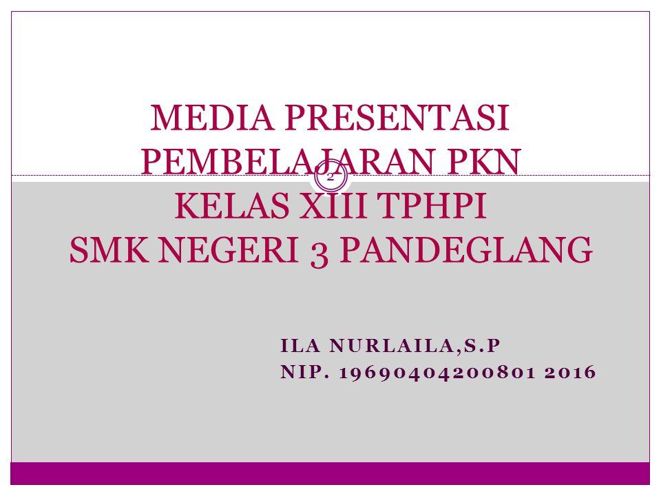 MEDIA PRESENTASI PEMBELAJARAN PKN KELAS XIII TPHPI SMK NEGERI 3 PANDEGLANG
