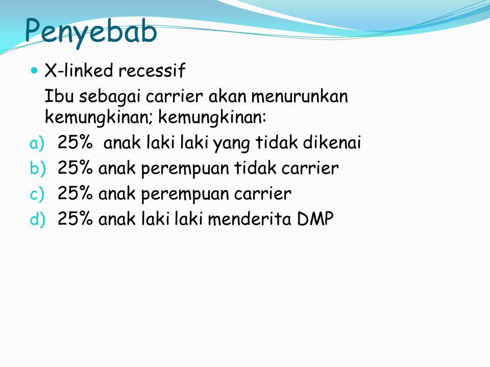 Penyebab X-linked recessif