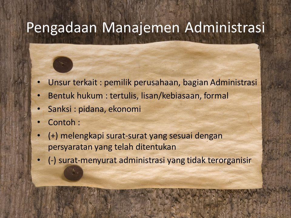 Pengadaan Manajemen Administrasi