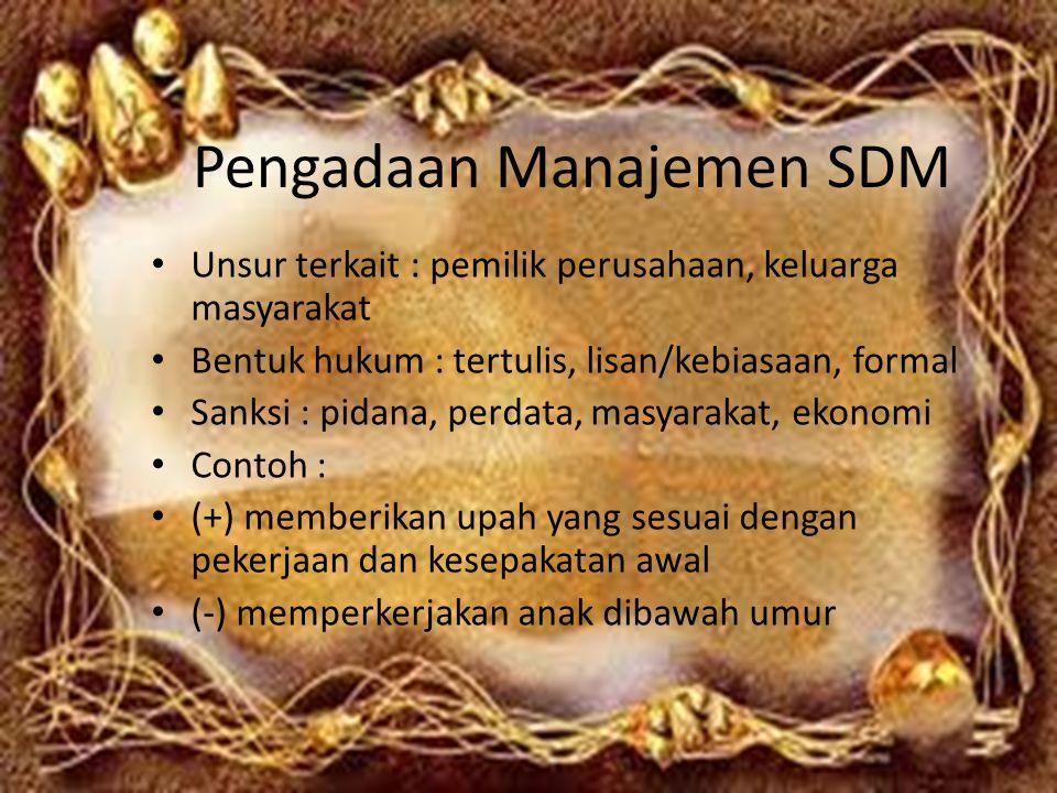 Pengadaan Manajemen SDM