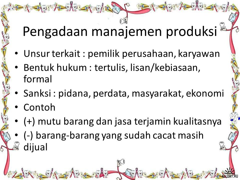 Pengadaan manajemen produksi