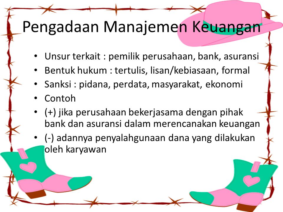 Pengadaan Manajemen Keuangan