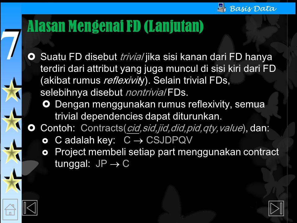 Alasan Mengenai FD (Lanjutan)
