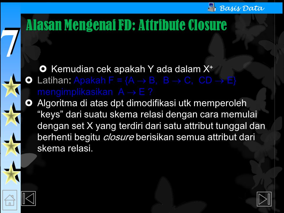 Alasan Mengenai FD: Attribute Closure