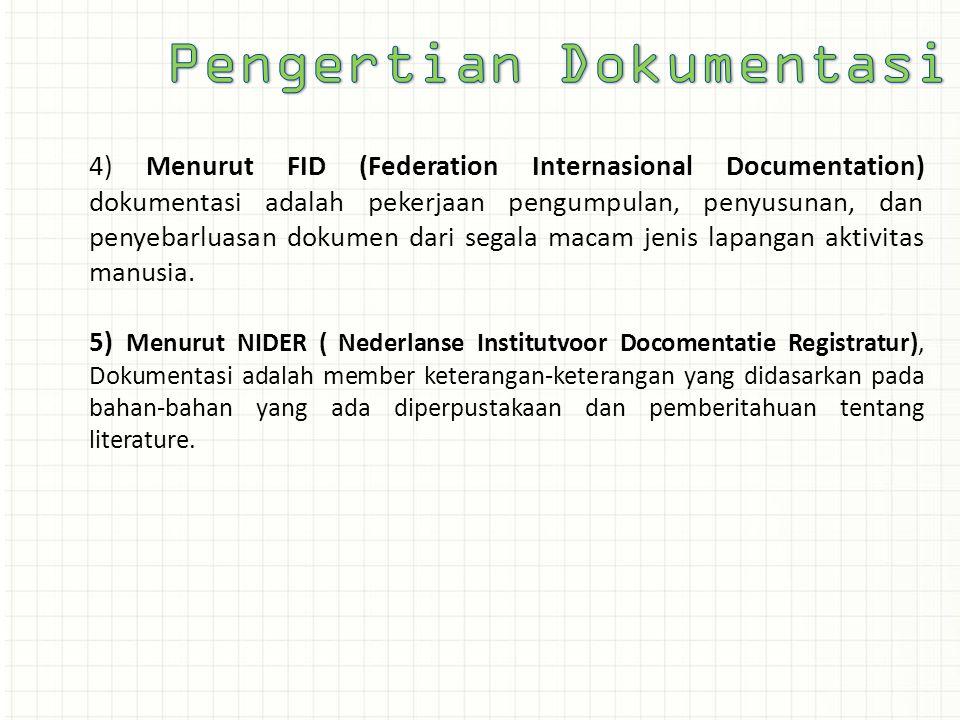 Pengertian Dokumentasi