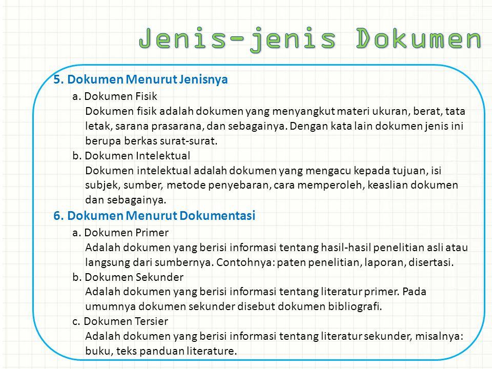 Jenis-jenis Dokumen