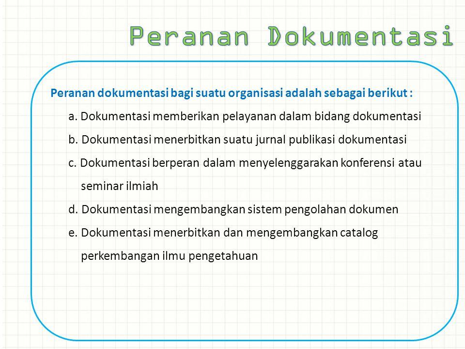Peranan Dokumentasi