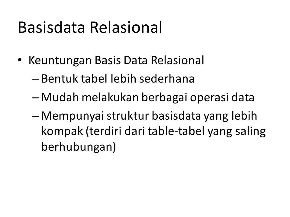 Basisdata Relasional Keuntungan Basis Data Relasional