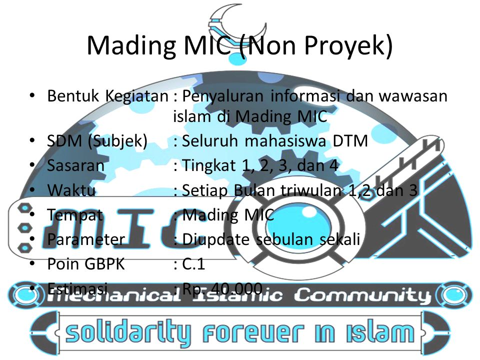 Mading MIC (Non Proyek)