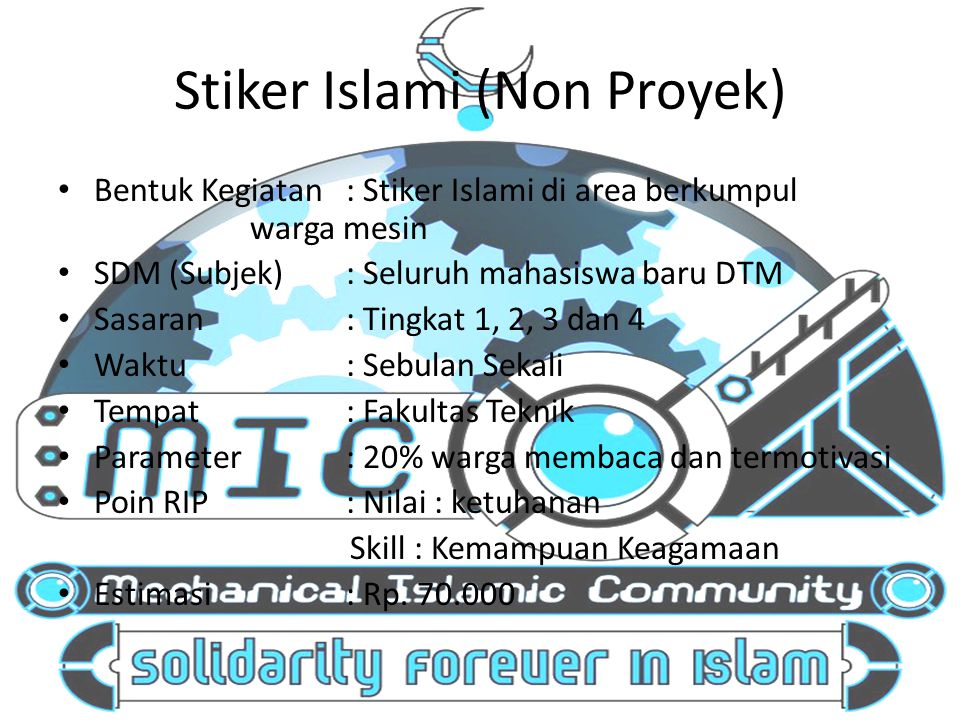 Stiker Islami (Non Proyek)