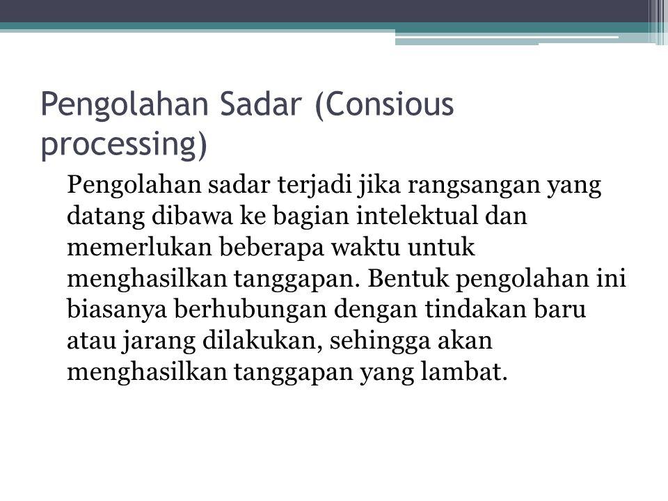 Pengolahan Sadar (Consious processing)