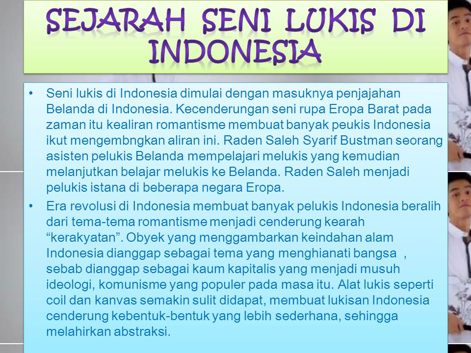 SEJARAH SENI LUKIS DI INDONESIA
