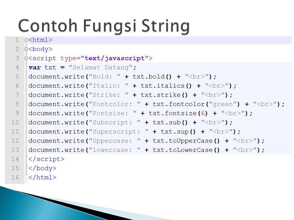Contoh Fungsi String