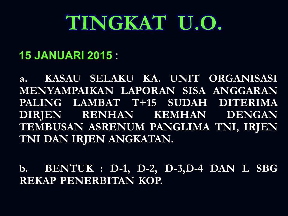 TINGKAT U.O. 15 JANUARI 2015 :
