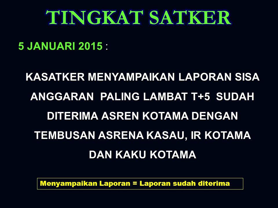 TINGKAT SATKER 5 JANUARI 2015 :