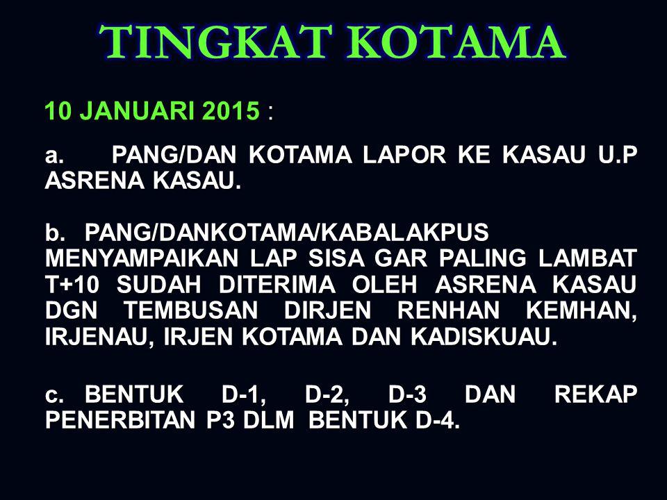 TINGKAT KOTAMA 10 JANUARI 2015 :