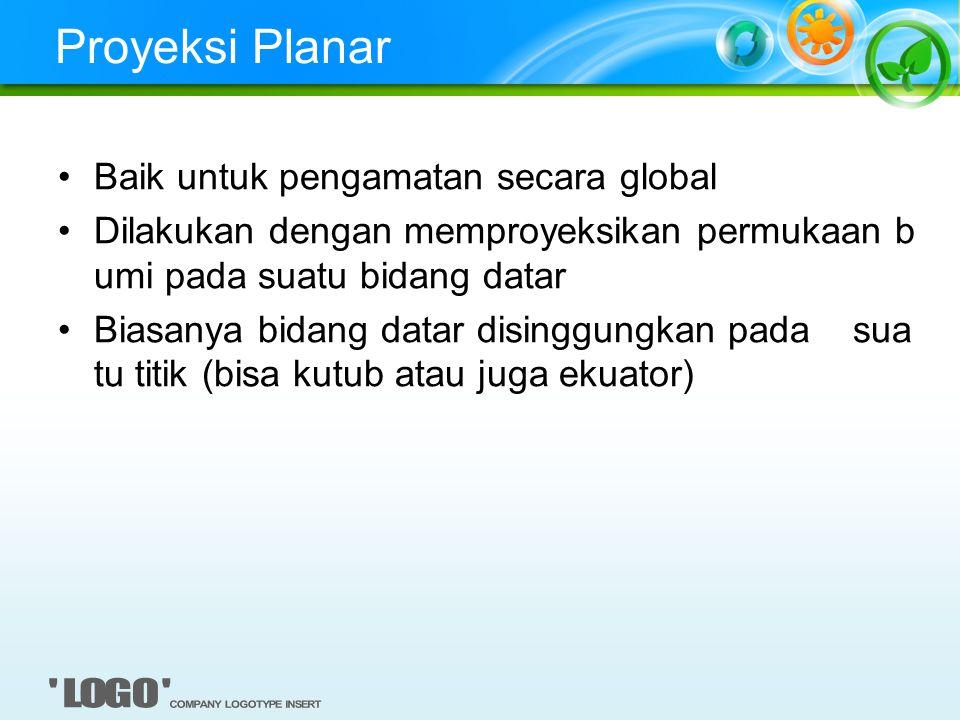 Proyeksi Planar Baik untuk pengamatan secara global