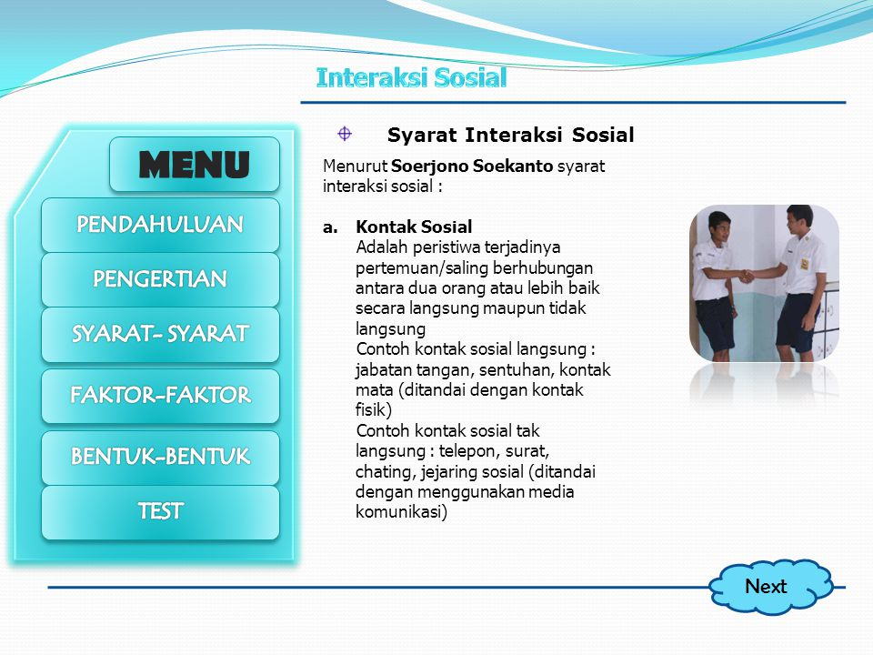 Syarat Interaksi Sosial