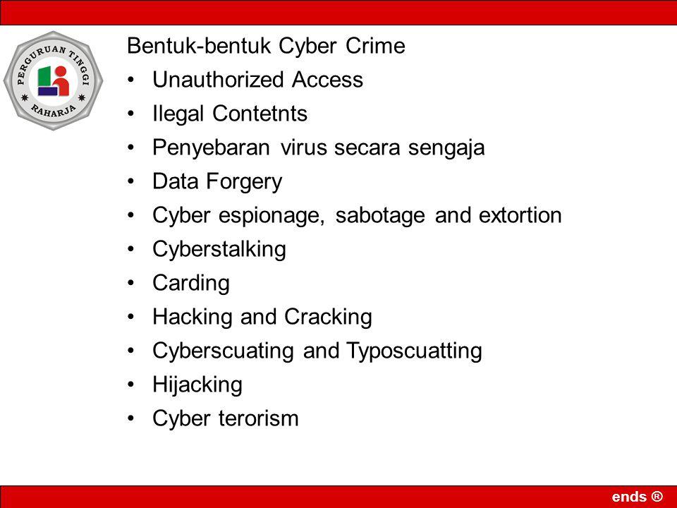 Bentuk-bentuk Cyber Crime
