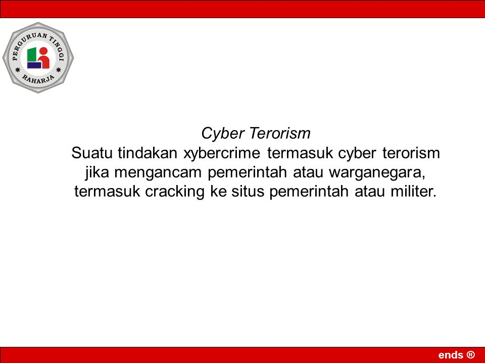 Cyber Terorism