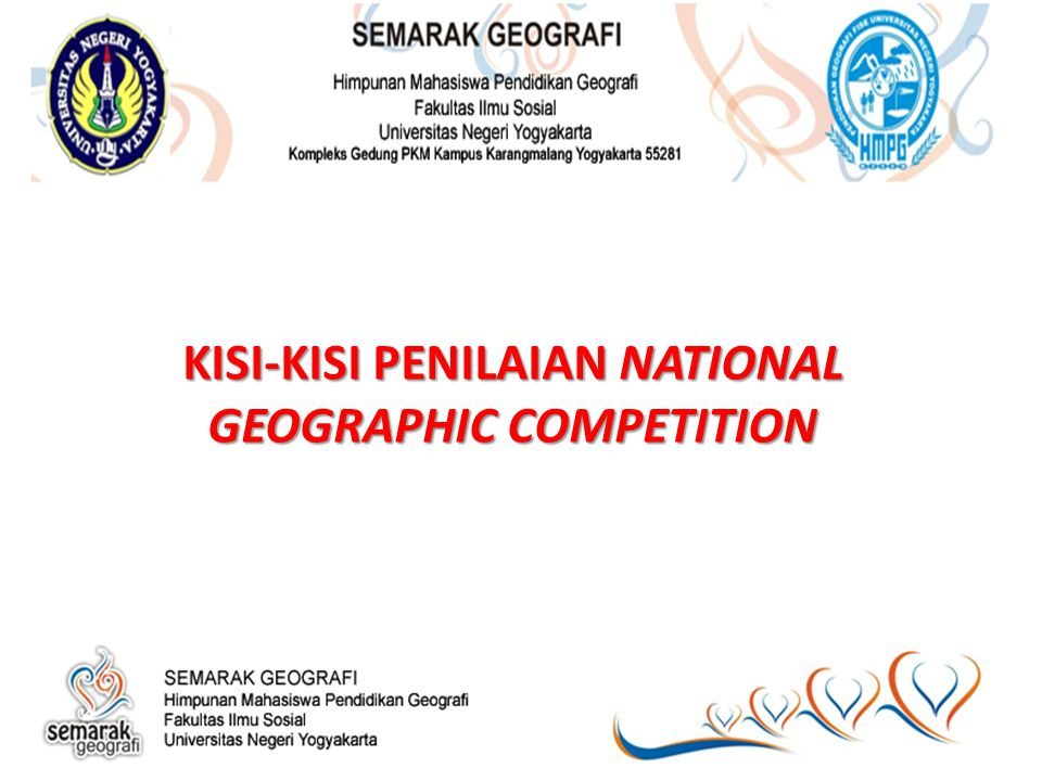KISI-KISI PENILAIAN NATIONAL GEOGRAPHIC COMPETITION