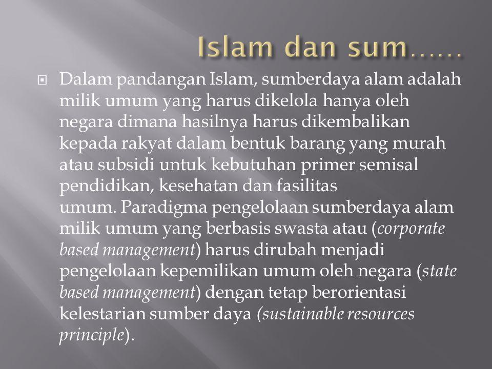 Islam dan sum……