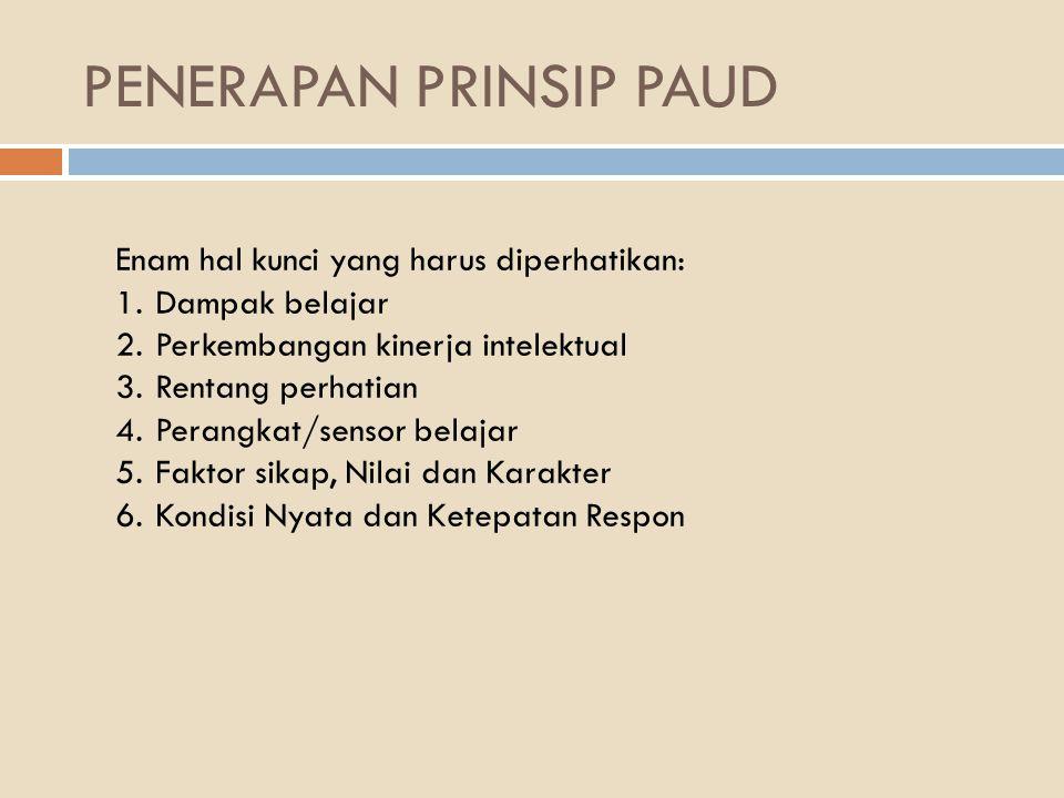 PENERAPAN PRINSIP PAUD