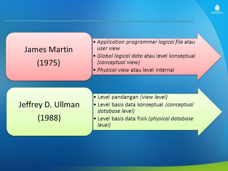 James Martin (1975) Jeffrey D. Ullman (1988)